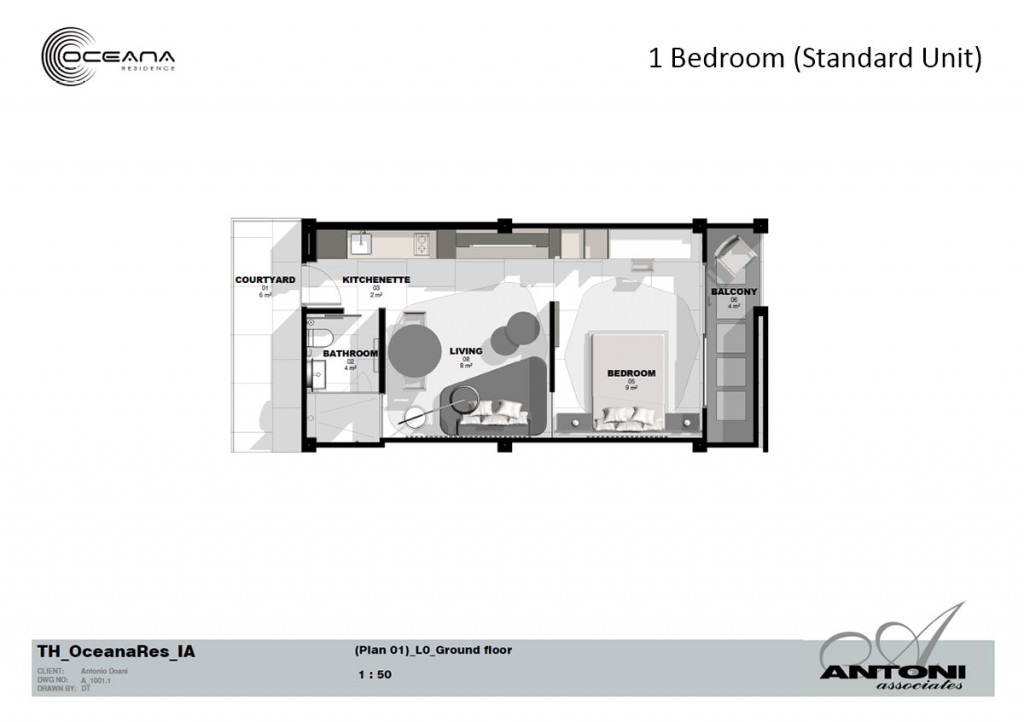 Oceana Residence - Floorplan for Standard Unit