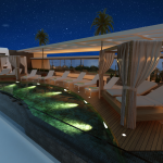 Oceana Residence - Koh Samui condo - Rooftop pool night view