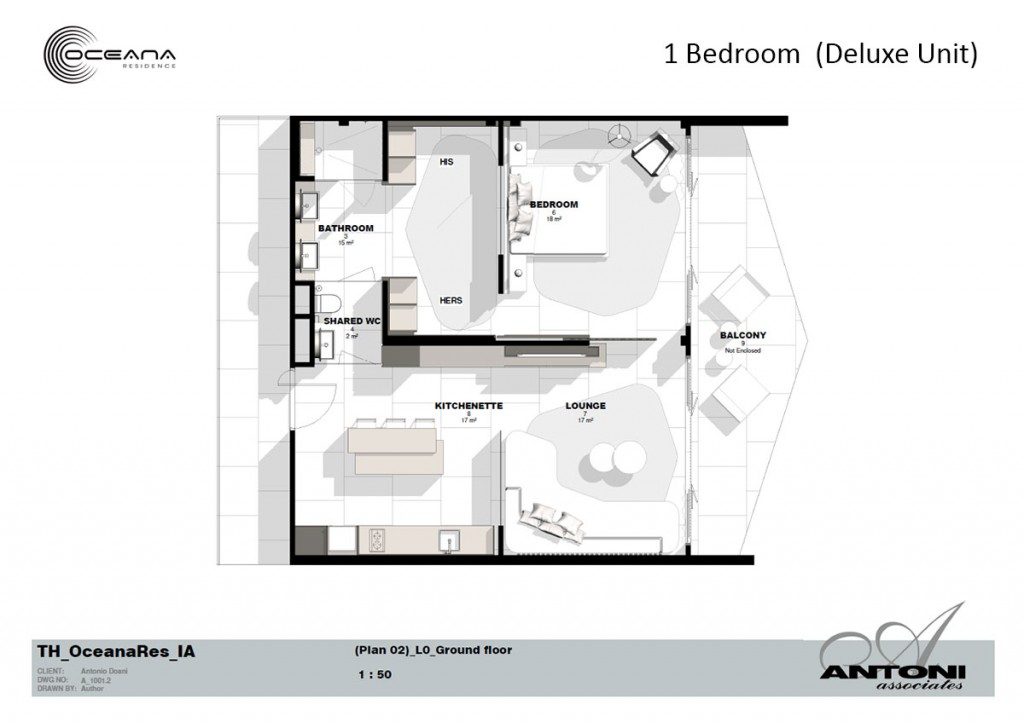 Oceana Residence - Floorplan for Deluxe Unit